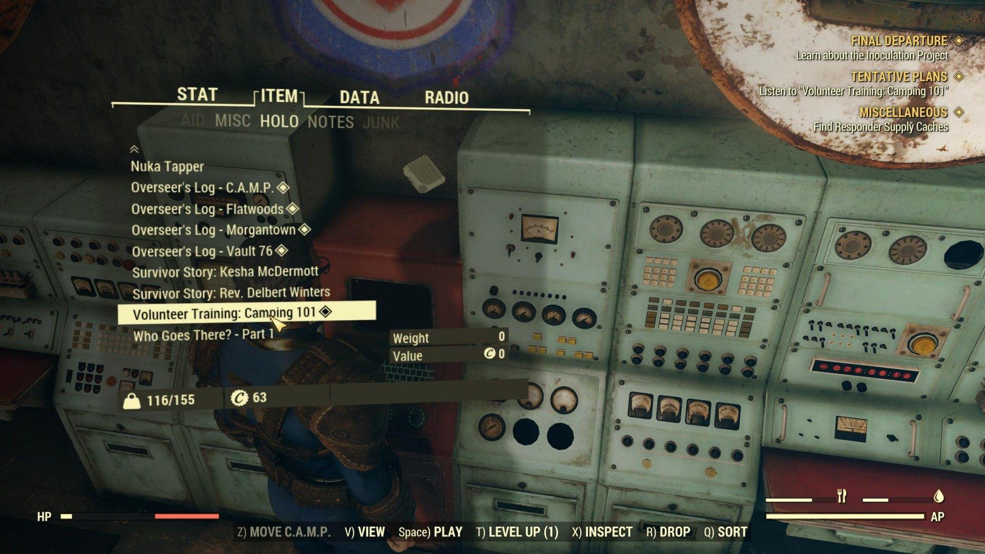 Tentative Plans, Fallout 76 Quest