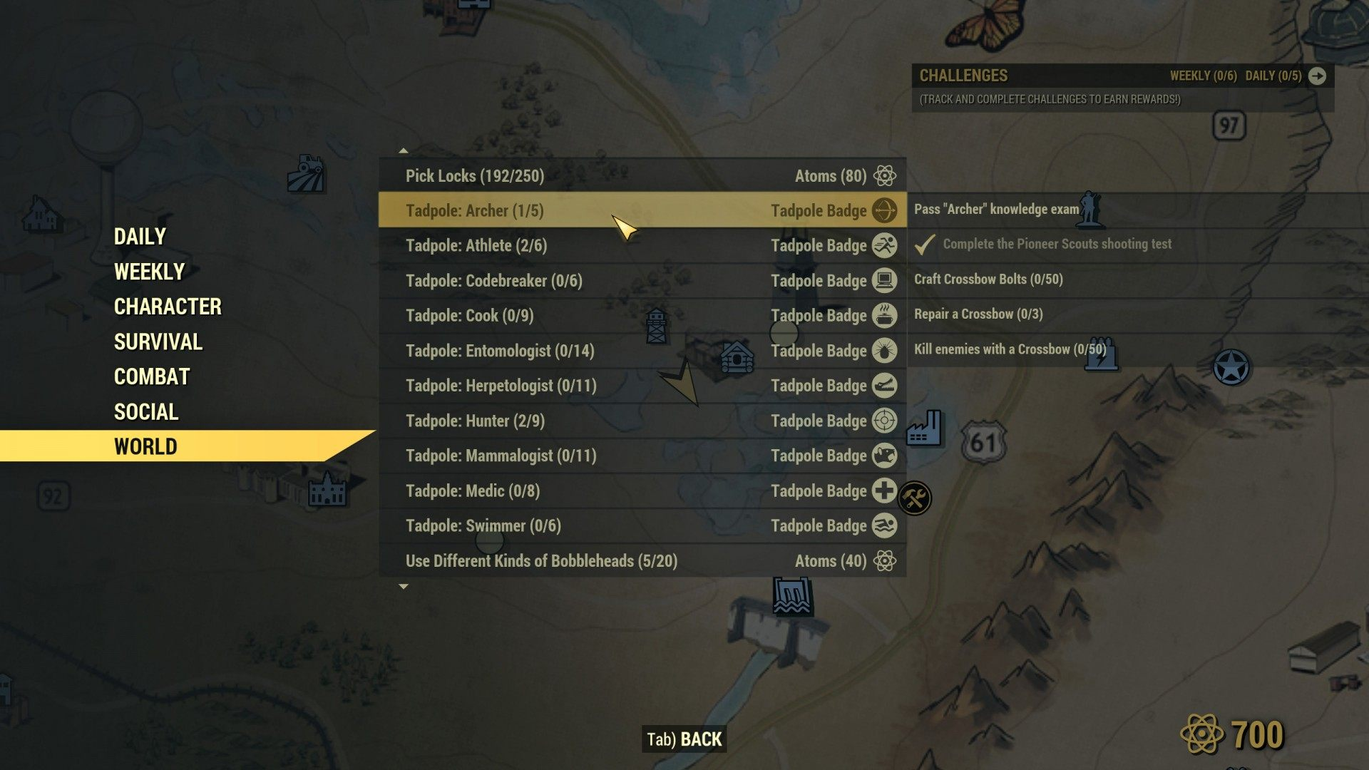 The Order of the Tadpole, Fallout 76 Quest