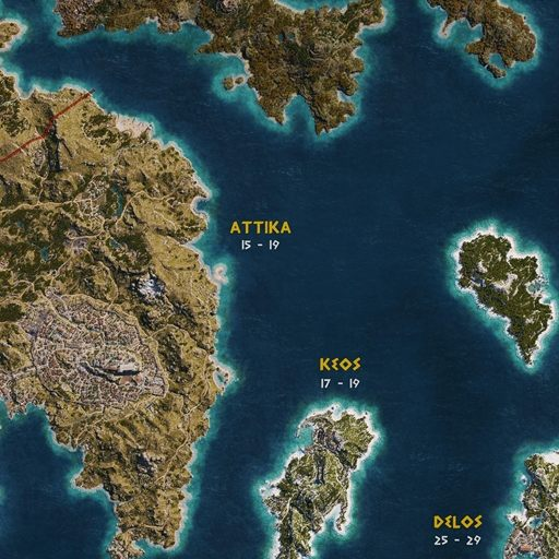 World Map Assassin S Creed Odyssey Map