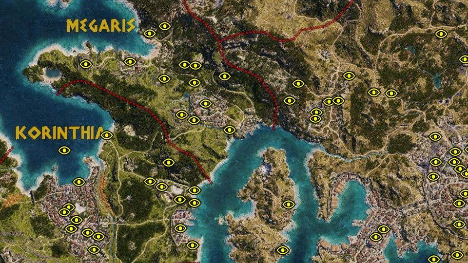 Historical Locations Assassin S Creed Odyssey Map