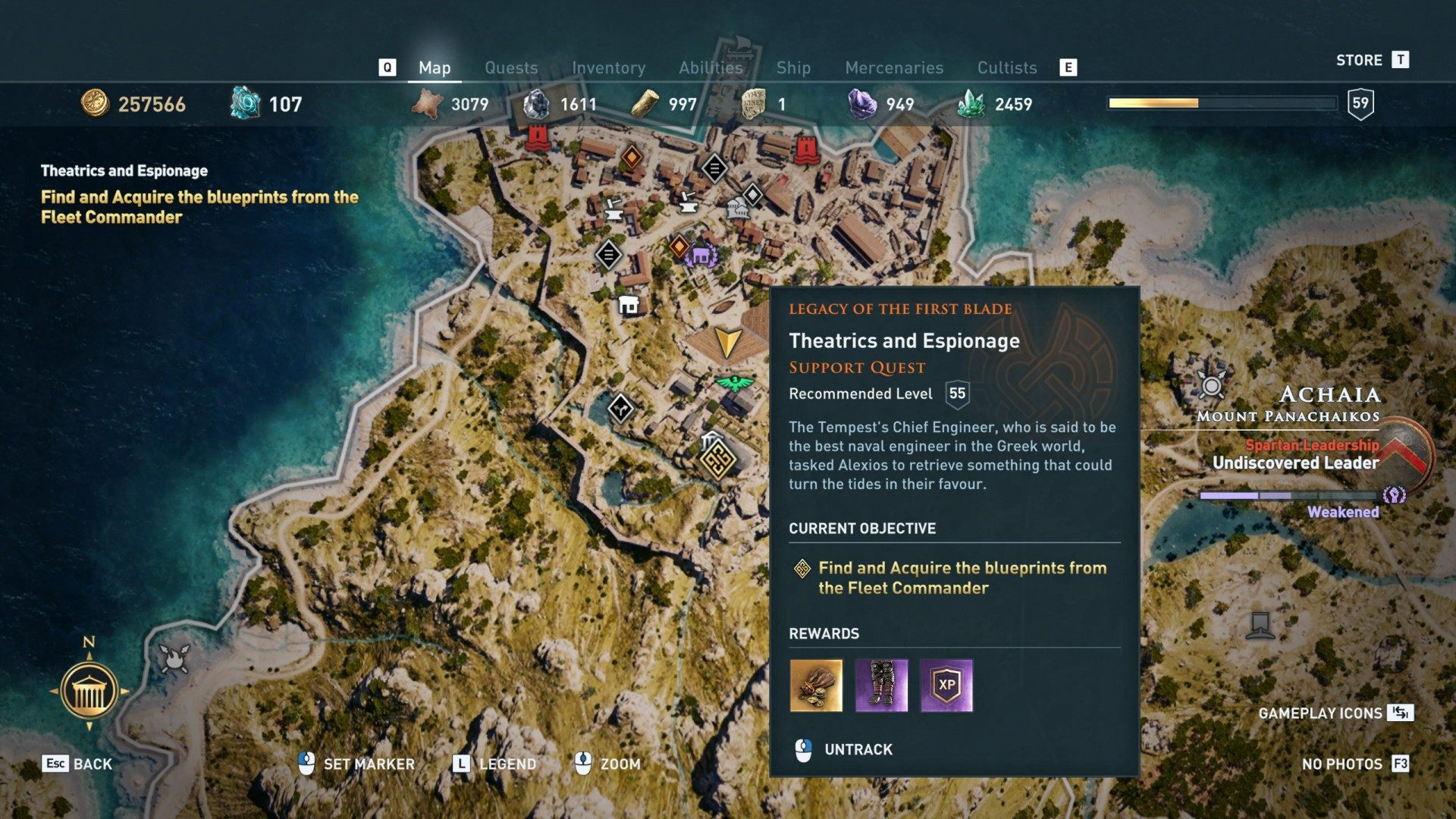 Theatrics and Espionage, Assassin's Creed Odyssey Quest
