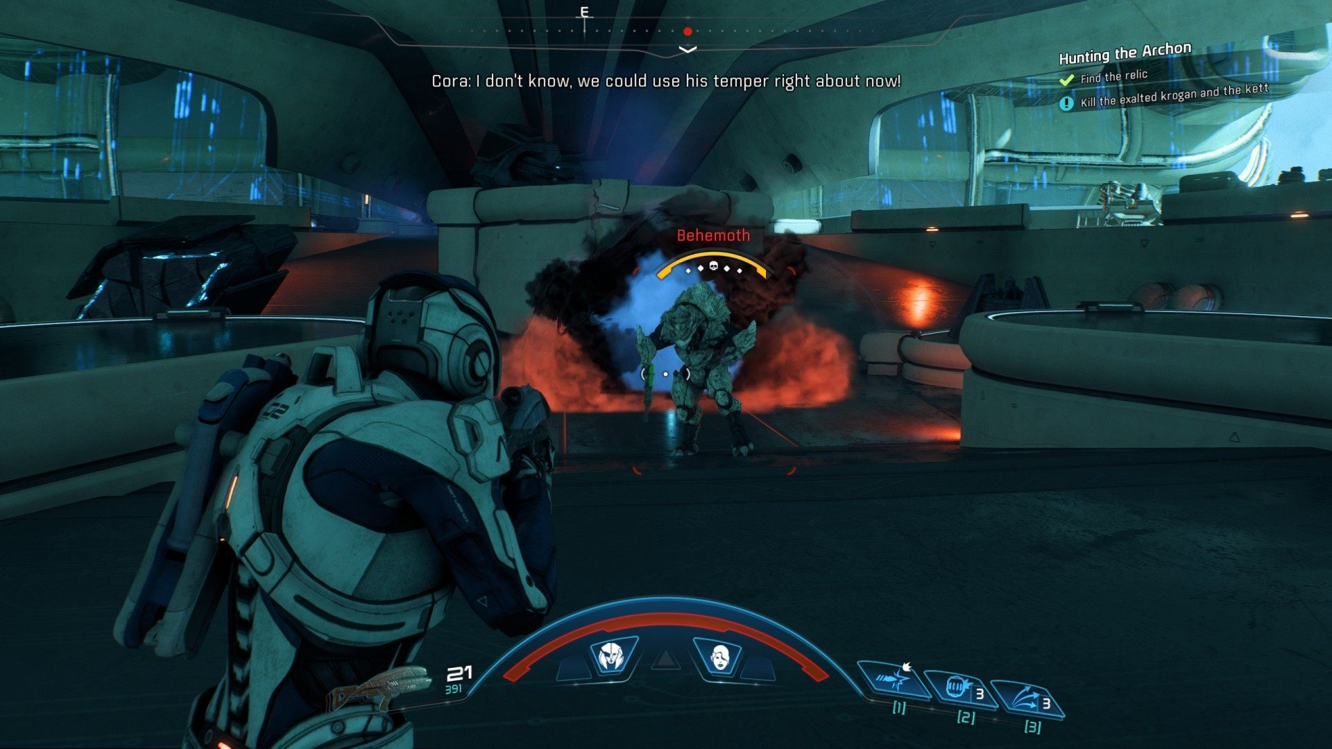 how to get through the maintenance corridors mass effect
