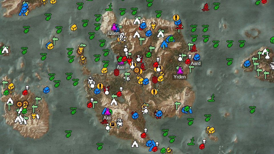 The Skellige Isles Witcher 3 Wild Hunt Map