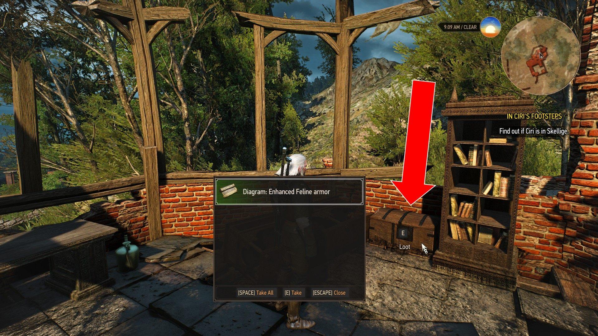 Scavenger Hunt Cat School Gear Upgrade Diagrams Part 1 Witcher 3 Wild Hunt Quest