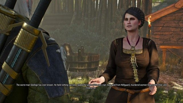Talk to the priestess of Josta about Witcher 3 Morkvarg