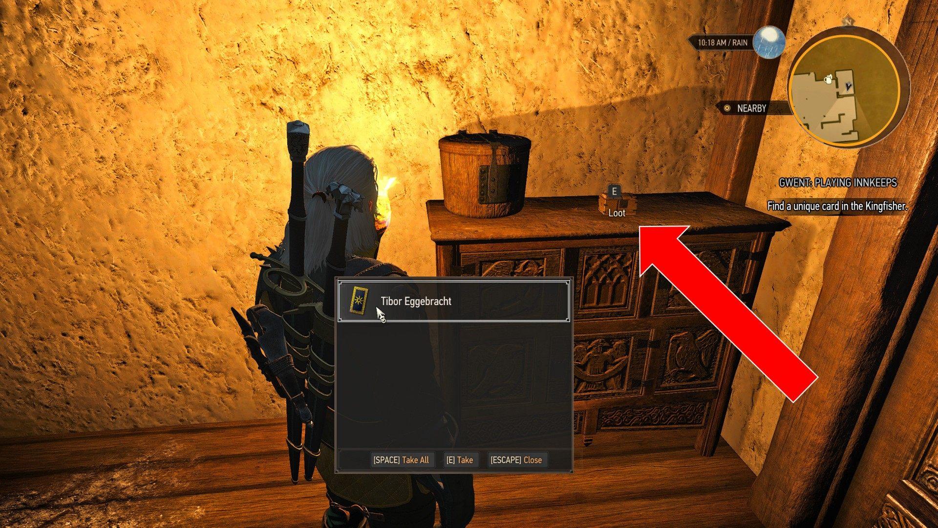 Gwent Playing Innkeeps Witcher 3 Wild Hunt Quest