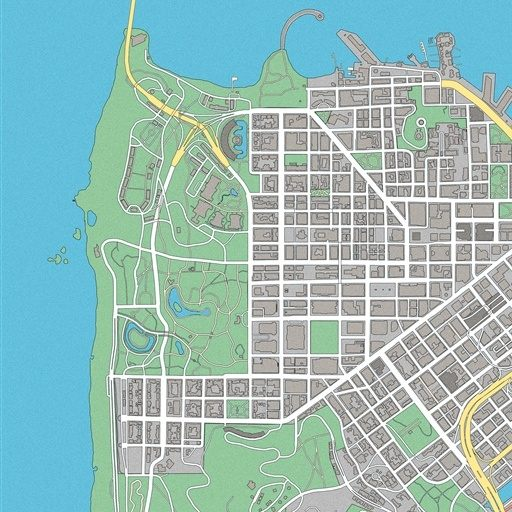World Map / San Francisco Bay, Watch Dogs 2 Map