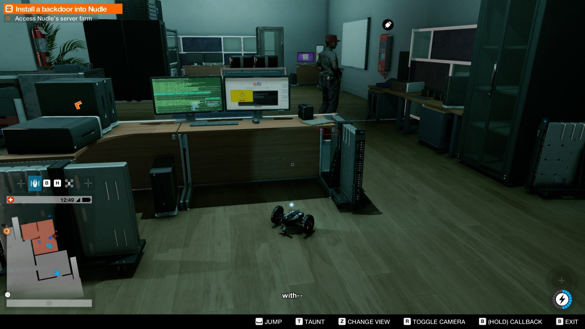 Install A Backdoor Into Nudle Watch Dogs