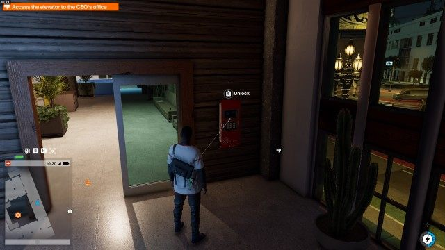 Access the elevator to the CEO's office